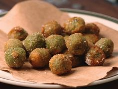 Tuscan sausage stuffed, deep-fried olives...saw this on Extra Virgin tonight, yum!.