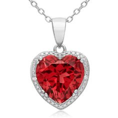 Necklaces ($20) ❤ liked on Polyvore featuring jewelry, necklaces, heart jewelry, ruby jewellery, heart necklace, heart shaped necklace and ruby necklace