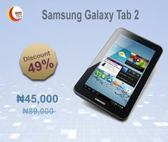 Get 49% #OFF  on   #SamsungGalaxyTab2  from  #BlessingComputers  .