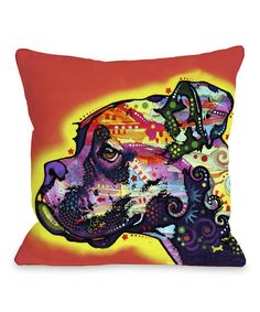 Another great find on #zulily! Boxer Throw Pillow #zulilyfinds
