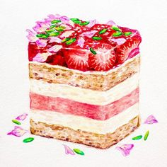 plate.to.paper : The famous strawberry and watermelon cake