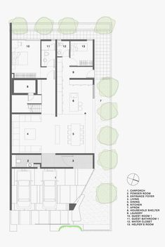 Vertical gardens and inclined roof terraces: maximum garden house ground floor plan, contemporary architecture Modern House Floor Plans, Home Design Floor Plans, House Plans, Table Ikea, Modern Minimalist House, Roof Plan, Ground Floor Plan, Timber House, Facade House