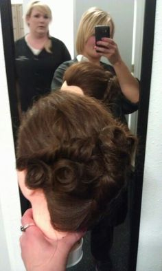 French twist w/ pin curl flair #2