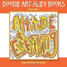 Attitude is Everything - Doodle Quote Book
