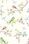 En toch blijven vogeltjes ook leuk....PiP Early Bird Wit behang | PiP Studio ©