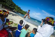 Village visits with Captain Cook Cruises Fiji... a great opportunity to meet the kids and bring them school supplies