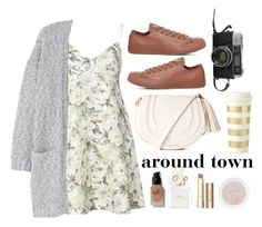 """Around Town"" by kathrynesker on Polyvore featuring Zimmermann, MANGO, Converse, Kate Spade, e.l.f., Marc Jacobs and Stila"