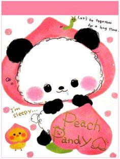 Crux Peach Panda Mini Memo Pad