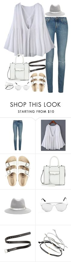 """""""Untitled#4103"""" by fashionnfacts ❤ liked on Polyvore featuring Yves Saint Laurent, Birkenstock, Rebecca Minkoff, rag & bone, Acne Studios and Topshop"""