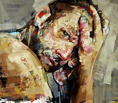 Nascido no Canadá, Andrew Salgado, de 30 anos, é uma jovem promessa da arte contemporânea e impressiona pelas manchas e pinceladas semi-geométricas que utiliza em suas pinturas. Versando temas como a masculinidade, ele cria retratos em grande escala.