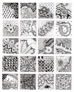 zentangle pattern page