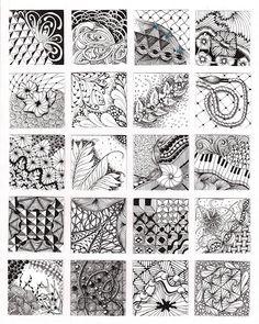 zentangle pattern page
