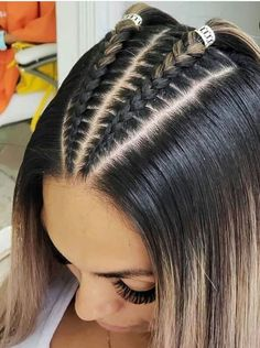 Cornrow hairstyles for black women Braided Hairstyles black Cornrow Hairstyles Women Cool Braid Hairstyles, Easy Hairstyles For Long Hair, Baddie Hairstyles, Braids For Long Hair, Athletic Hairstyles, Hairstyles Pictures, Braids Into Ponytail, Braided Hairstyles For Short Hair, Braids For Girls