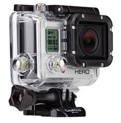 GoPro Hero 3 -- man we love this camera. Plus, built-in WIFI now. Whoo!
