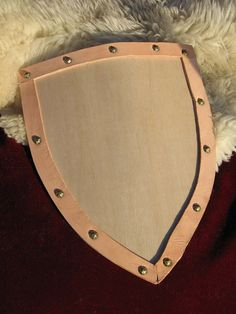 Wooden Knight's Heater Shield on Etsy, $15.00