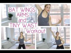 BAT WINGS, ARMS AND TINY WAIST WORKOUT - YouTube