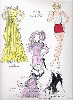 Glamorous Movie Stars of the 30s   Gabi's Paper Dolls