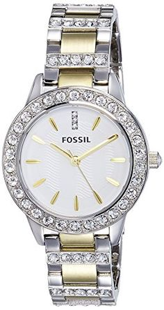 Great gift idea Fossil Women's ES2409 Jesse Two-Tone Stainless Steel Watch with Link Bracelet