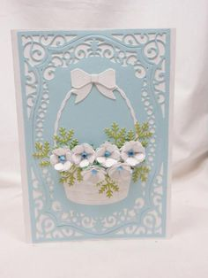 Basket of Birthday Flowers by sherrird - Cards and Paper Crafts at Splitcoaststampers