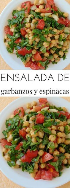 Chickpea and spinach cold salad - Tasty Recipe det .- Chickpea and spinach cold salad - Raw Food Recipes, Veggie Recipes, Mexican Food Recipes, Salad Recipes, Vegetarian Recipes, Cooking Recipes, Healthy Recipes, Drink Recipes, Healthy Salads