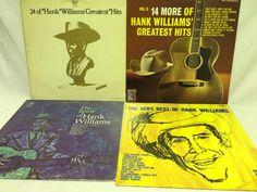 Hank Williams Lot of 4 Vinyl Records Greatest Hits Spirit Of Very Best Of Vol 2