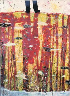 Peter Doig ~ Reflection (What does your soul look like?), 1996 (oil on canvas)