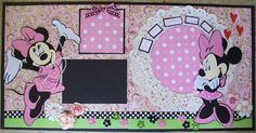 Mickey and Minnie Album Scrapbook, Disney Scrapbook Pages, Scrapbook Page Layouts, Scrapbook Cards, Scrapbooking Ideas, Disney Love, Disney Mickey, Disney Ideas, Disney Stuff