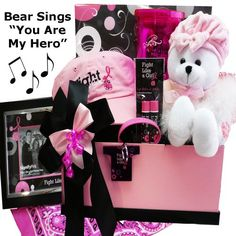 Fight Like A Girl Breast Cancer Gift Basket « Blast Gifts