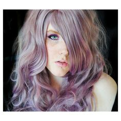 Spring SALE - LAVENDER LOVE wig // Pastel Purple Curly Thick Wavy Long... ($94) ❤ liked on Polyvore