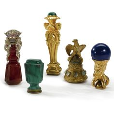 Five Desk Seals, mid to late 19th century