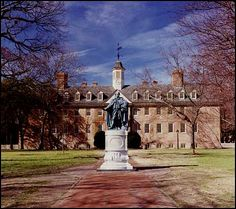 Colllege of William and Mary  Williamsburg, VA - Fun thinking about how Kitsie went to school here so long ago.