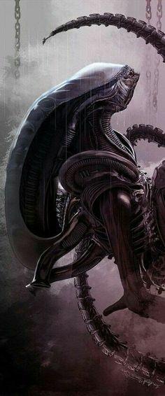 I will always find beauty in Its purity Alien Vs Predator, Predator Alien, Sci Fi Horror, Arte Horror, Horror Art, Arte Alien, Alien Art, Alien Convenant, Alien Pics