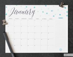 2014 Printable Calendar - Ellinée journal | DIY Blog