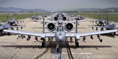 To flex some military muscle in the Pacific region, the U.S. Air Force rolled out the fighter planes en masse this week.