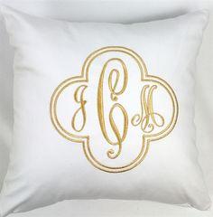 Monogrammed pillow $75, #monograms, #pillows, Luxury Monograms.  Love this monogrammed pillow!