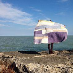 "Quilt by Heidi Parkes, ""The Beach."" #quilt"
