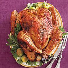 Maple-Glazed Turkey with Onion-Cider Gravy Recipe