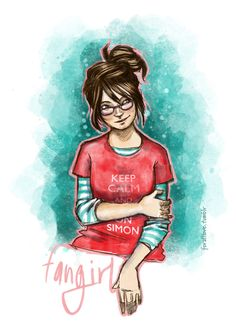 Have some fan art for Fangirl by Rainbow Rowell! It was an amazing read….. I love Cath, we have the same issues about leaving dorm roo...