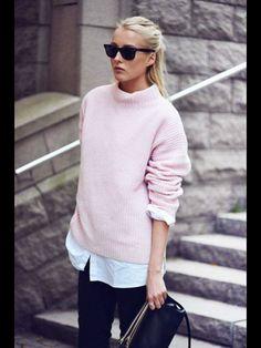 The perfect pink sweater