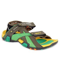 Sparx Yellow And Green Sandals