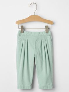 Pleated cord soft pants