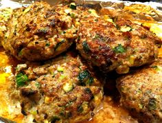 Turkey & zucchini burgers with green onion and cumin | Recipe Connoisseur