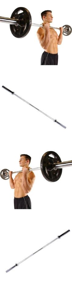 Barbells And Attachments 137864 Olympic 6 Foot Weight Bar Solid Chrome Workout Gym Bench Home Exercises Barbell It Now Only 60 22 On Eba