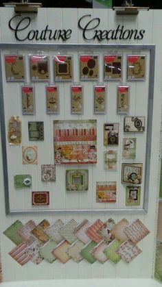 Vintage Rose Garden Collection display at CHA featuring 2 cards by Amanda Baldwin