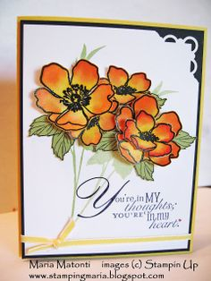 Maria's Stamping Station: Fabulous Florets Stamp Set Card