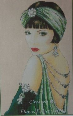 Cross Stitch Art, Cross Stitching, Cross Stitch Patterns, Pinturas Art Deco, Art Deco Cards, Art Deco Artists, Art Deco Illustration, Art Deco Posters, Art Deco Design