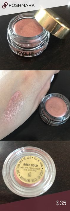 Rose Gold Creme Eyeshadow by Kylie Cosmetics Rose gold creme Eyeshadow by Kylie Cosmetics 100% authentic. Never used, swatched Kylie Cosmetics Makeup Eyeshadow