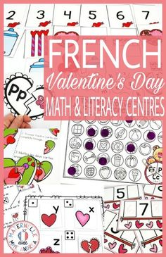 Maternelle avec Mme Andrea: Valentine's Day Math & Literacy Centres