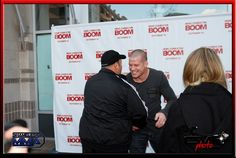 Kevin James congratulating Nate Marquardt on his Title win - Here Comes the BOOM Red Carpet Premier in Denver Oct 4th