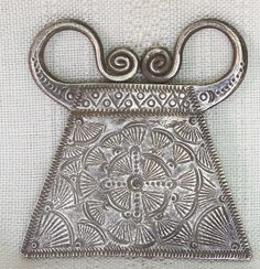 Soul Lock Pendant Antique Hmong Silver 20g Late 19th - Early 20th Century Laos ETJ146